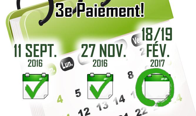 LHPA - 3e paiement les 18 et 19 février